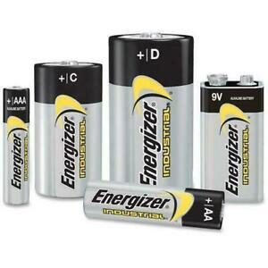 ENERGIZER AA, AAA, C, D & 9V ALKALINE INDUSTRIAL BATTERIES - LONGEST EXPIRY