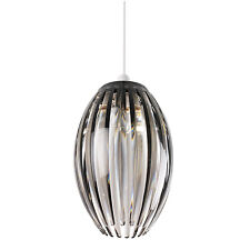 Endon Dorney pendant shade only 60W Smokey acrylic