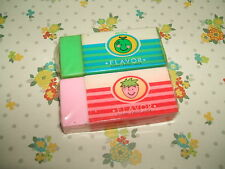 Rare Vintage 1980s Japanese Fruity Block erasers rubbers gommes gommine