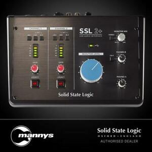 Solid State Logic SSL 2+ 2x4 USB Audio Interface w/ Legacy 4K Analogue Enhanceme
