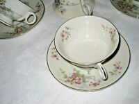 6 Vintage Theodore Haviland New York Apple Blossom China Cups and Saucers