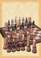 Studio Anne Medieval Cathedral Hand Painted Chess Set A185S