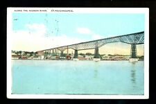 New York NY postcard Poughkeepsie Bridge Hudson River Vintage