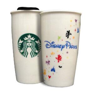Disney Parks Starbucks 2015 Ceramic Tumbler Traveler Coffee Cup 12 Oz New