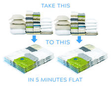 Space Saver Vacuum Seal Storage Bags with Hand Pump for Travel Luggage x 8 Large