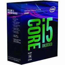 Intel Core i5 8600K Processor 9MB 3.6 GHz LGA 1151 6 Core 6 Thread Desktop CPU