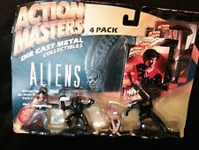 ACTION MASTERS ALIENS 4-PACK ACTION FIGURES, DIE CAST, SEALED, OLD, RARE !!