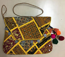 Vintage Embroidery Bag Indian Handmade Banjara Boho Clutch Bag Tribal Sling Bag