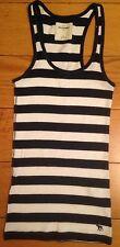 Abercrombie Kids Girls Blue & White Striped Vest Top - Size XL - Excellent Cond