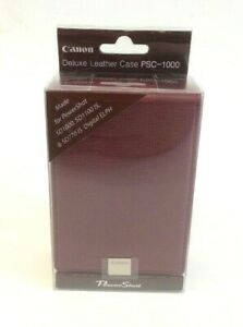 Canon PSC-1000 Deluxe Burgandy Leather Case for Powershot