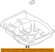 FORD OEM 11-17 Explorer Rear Floor Rails-Rear Floor Pan BB5Z7811215A