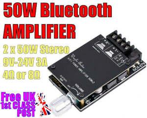 2 x 50W Stereo Bluetooth Digital Audio Amplifier & CASE kit  FREE 1ST CLASS POST