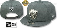Raiders 'SILVER METAL-BADGE SNAPBACK' Shadow Tech Hats by New Era