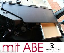 LKW Tisch + ABE passend Mercedes Actros MP4 Ablage Ablagetisch schwarz mit Matte
