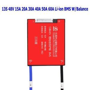 48V 13S 15A 20A 30A 40A 50A 60A Li-ion 13X3.7V PCB BMS LFP W/Balance Waterproof