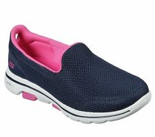 Skechers 124038 Go Walk 5 Fantasy Ladies Navy Hot Pink Slip On Shoes
