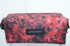 Longchamp Le Pliage Neo Fnt Cosmetic Bag Pouchette Pouch Red Black NWT