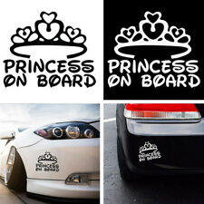 1 Pc PRINCESS ON BOARD Baby Child Window Bumper Car Sign Decal Sticker 17*14cm