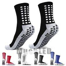 3 Pairs Sport Socks Anti Slip W/Grip Soccer Men Football Basketball Sock Premium