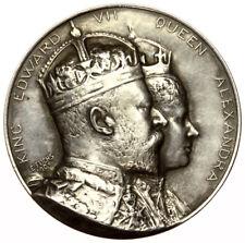1902 Coronation Silver Medal by Fuchs ~ Edward VII ~ Eimer 1870b ~ Cased