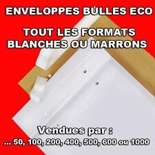 Enveloppes à bulles ECO / matelassées marrons ou blanches 11 formats économique