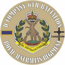 D COMPANY 6TH BATTALION  ROYAL AUSTRALIAN REGIMENT UV LAMINATED VINYL STICKER