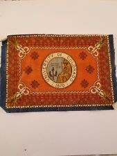 Vintage and Rare early 1900s Cigar Box Felt silk flag, University of Colorado