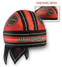 Harley-Davidson Men's Winged H-D Circle Name Headwrap, Red & Black HW23932