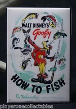 "How to Fish Movie Poster 2"" X 3"" Fridge / Locker Magnet. Disney Goofy"