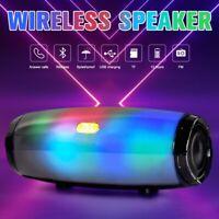 Bluetooth 5.0 Speaker Wireless Stereo Loud Bass Boombox Subwoofer LED FM USB TF