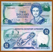 Bermuda, $2, 1997 , QEII, Pick 40Ab, B/3, UNC