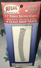 "Vintage Atlas N Scale Snap-Track #2520 11"" Radius Section 6-Pcs. NIP"