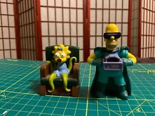 The Simpsons- 2 Burger King Halloween Toys 2011 - Homer and Maggie