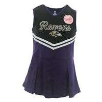 Baltimore Ravens NFL Kids Youth Girls Size Cheerleader Outfit with Bottoms Set