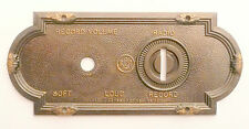 vintage* RCA VICTOR ELECTROLA VE 7-26X:  BRASS SWITCH PLATE - volume & rad/phono