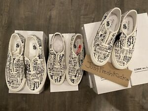 Vans OG Authentic Lx Japan Message Blanc White Brand New Size 8
