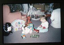 1962 amateur 35mm  photo slide Boy Toys Lollipop Jar Sweetie Pie Game tin Car