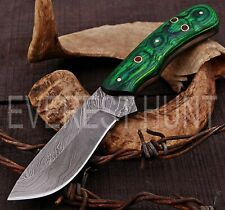 EVEREST HUNT CUSTOM HANDMADE DAMASCUS STEEL HUNTING CAMP SKINNER KNIFE B8-1645