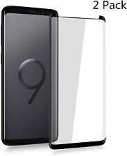 "Samsung Galaxy S9 Black 5.8"" 3D Hard Tempered Glass Crystal Slim Transparent 🔥"