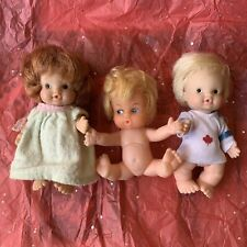 UNEEDA Doll Co 1966 Baby Pee Wee Doll Set Of 3