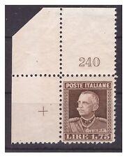 REGNO 1927  -  PARMEGGIANI   LIRE  1,75    NUOVO  ** NUMERO DI TAVOLA