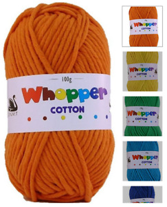 Cygnet Whopper Cotton Super Chunky Knitting Yarn Pink Azure Tangerine Canary