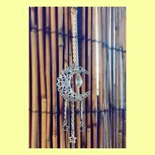 Moon Crescent And Crystal Sun Catcher Hanging Stars Mobile Handmade Australia