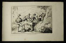 Bartolomeo.PINELLI: LAVATRICI DI TIVOLI..ROMA.Tav.32..1816.Acquaforte,Cm 42x27