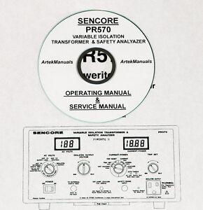 Sencore PR570, Isolation Transformer / Tester Operating & Service Manual