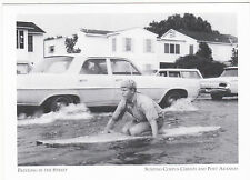 "*POSTCARD-""Paddling In The Street""-1968 Storm- Corpus Christi/Port Aransas(D-#9)"