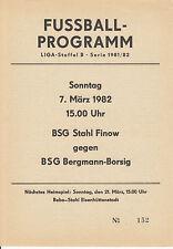 DDR-Liga 81/82 BSG Bergmann Borsig Berlin - BSG Stahl Finow 07.03.1982
