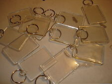 "30 PHOTO FRAME KEYCHAIN INSERT PICTURE KEY CHAINS. 1.75"" X 2.25"" FRAME SIZE"