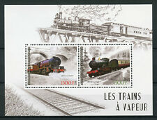 Ivory Coast 2017 MNH Steam Trains GWR Truro 2v M/S Rail Railways Stamps