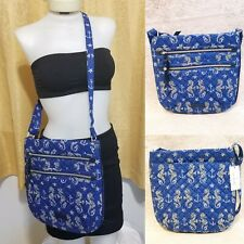 Vera Bradley Seahorse of Course Iconic Triple Zip Hipster Bag Crossbody Beach